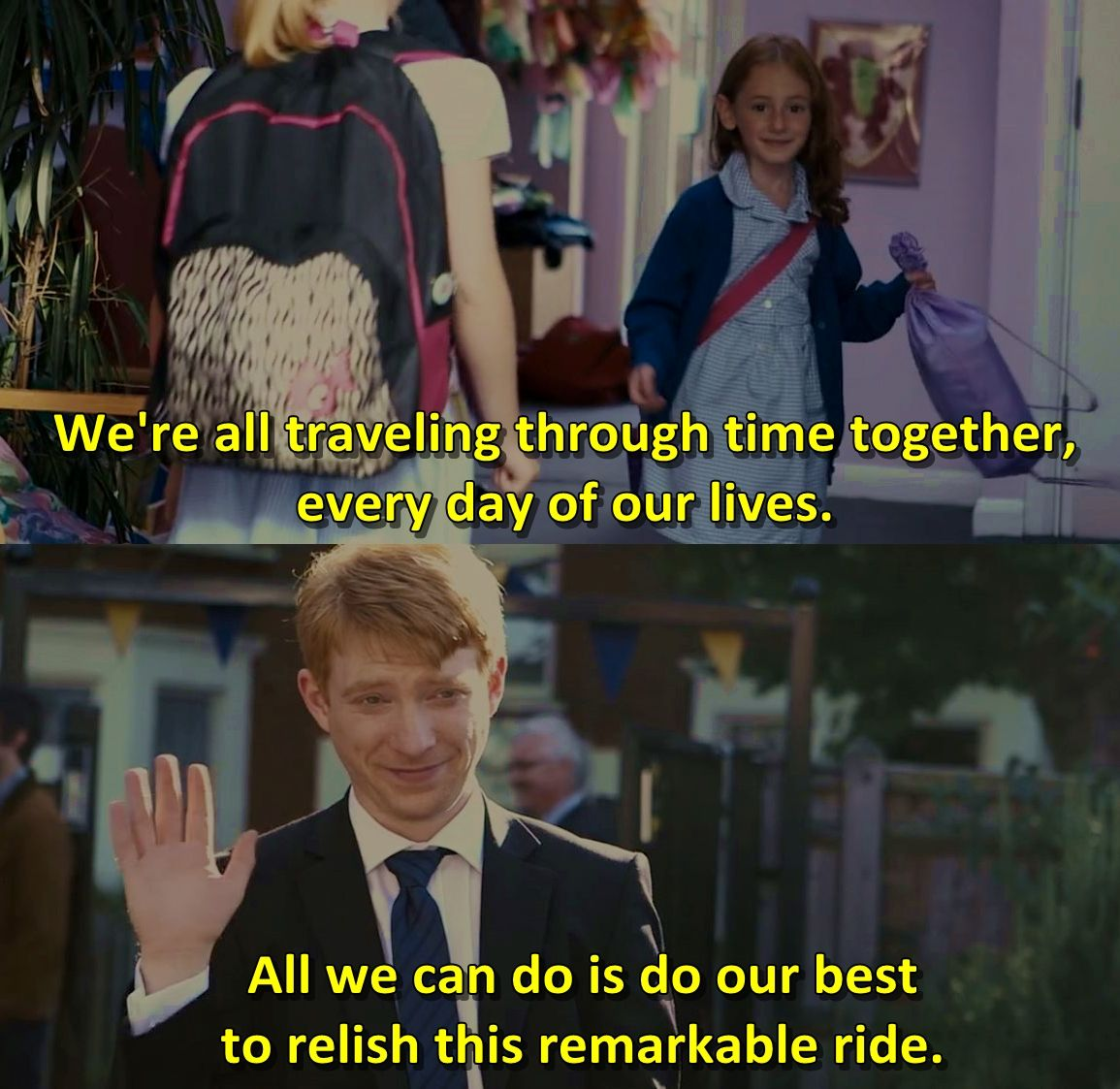 About time's travel inspirational movie quotes